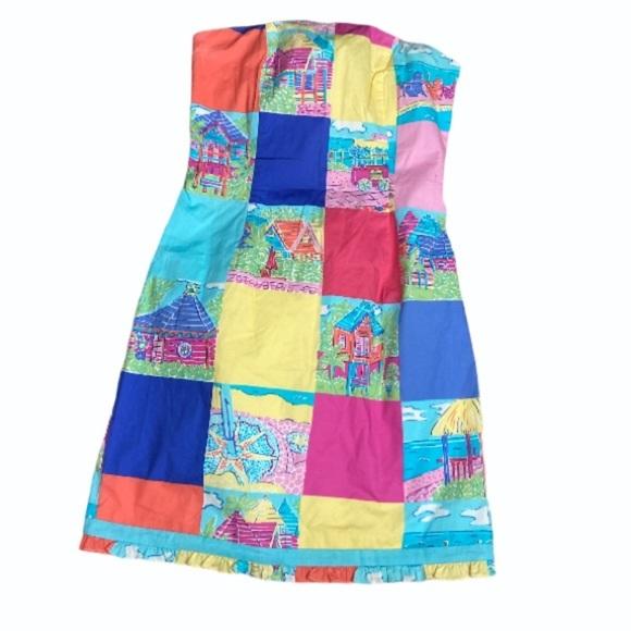 Lilly Pulitzer strapless boned dress. 2